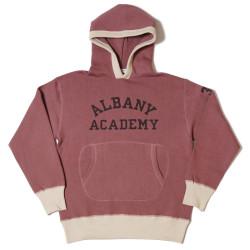 "HC-M85 1940's 2tone Circle Pocket Hooded Sweat ""ALBANY ACADEMY"""