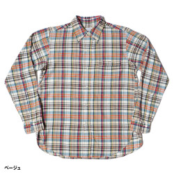 Lot 3099 L/S OXFORD B.D. SHIRTS WITH POCKET マドラスチェック