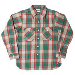 HC-218-2 1940's Green Check Flannel Shirts O/W