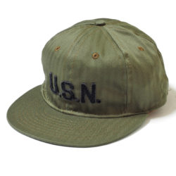 "COTTON BASEBALL CAP ""GREAT LAKES NAVAL STATION 1918"""