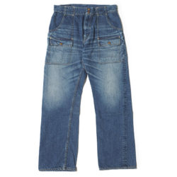 2ND-HAND DENIM BUSH PANTS (USED WASH)
