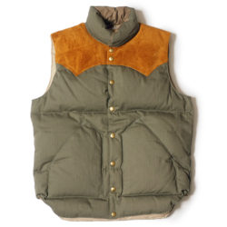 ROCKY MOUNTAIN × WAREHOUSE HERRINGBONE DOWN VEST NON WASH
