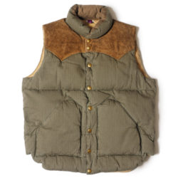 ROCKY MOUNTAIN × WAREHOUSE HERRINGBONE DOWN VEST LONG WASH